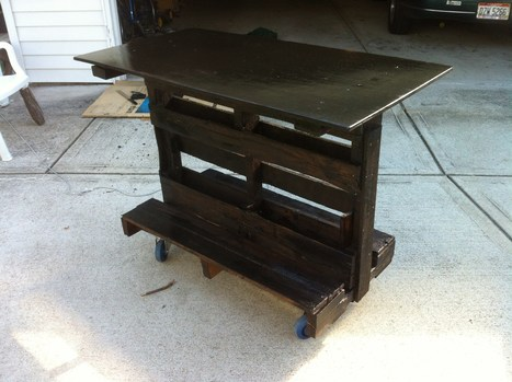 Kitchen Island Made From Upcycled Pallet wood | diy projects | Scoop.it