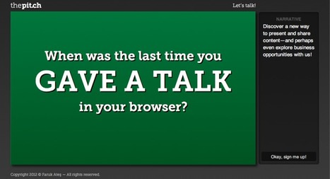 The Pitch - Browser based presentations | Emerging Digital Workflows [ @zbutcher ] | Scoop.it