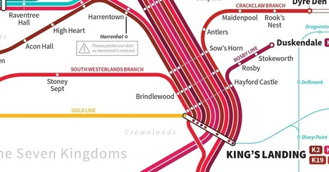 Artist Maps Out a Transit System for Westeros | Interesting stories from around the web. | Scoop.it