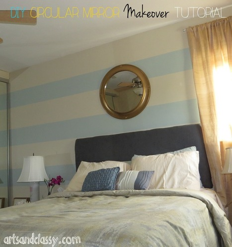 Goodwill Mirror Find Makeover Tutorial - Part 3: My Parents Bedroom Makeover   Diy Home Decor on a Budget   Scoop.it