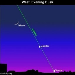 Start watching mid-May for great Jupiter-Venus conjunction later in month | EarthSky.org | planets | Scoop.it