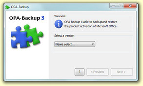OPA-Backup - Backup and restore the product activation of Microsoft Office | Trucs et astuces du net | Scoop.it