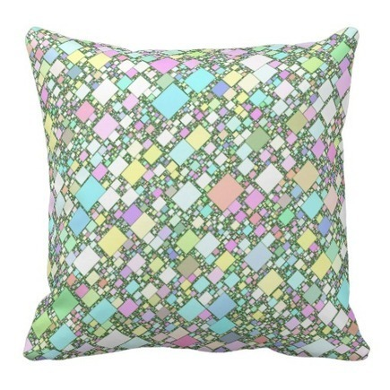 Pastel Mini Boxes Throw Pillows from TheAspenStand Store on Zazzle | Z Artwork | Scoop.it