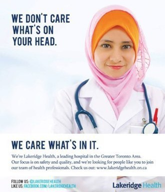 'We don't care what's on your head': Ontario hospital launches ad aimed at Quebec medical students, values charter | French-Quebec The ups and downs | Scoop.it