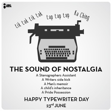 Typewriter Day - June 23rd | What about? What's up? Qué pasa? | Scoop.it