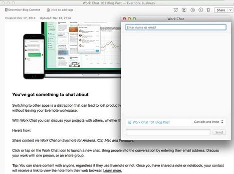 Work Together, Accomplish More with Work Chat | Organizza la Tua Vita con Evernote, GTD, e... | Scoop.it