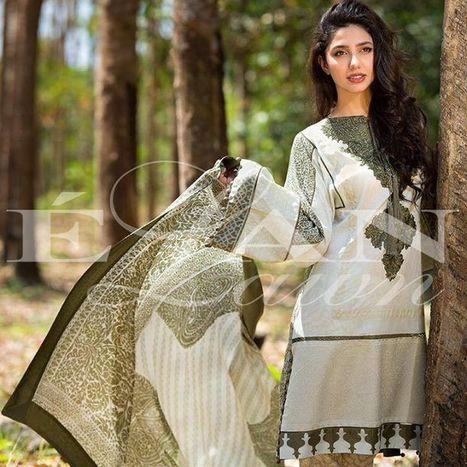 Elan Lawn 2014 Spring Summer Collection with Model Mahira Khan   Zoya Afroz   Scoop.it