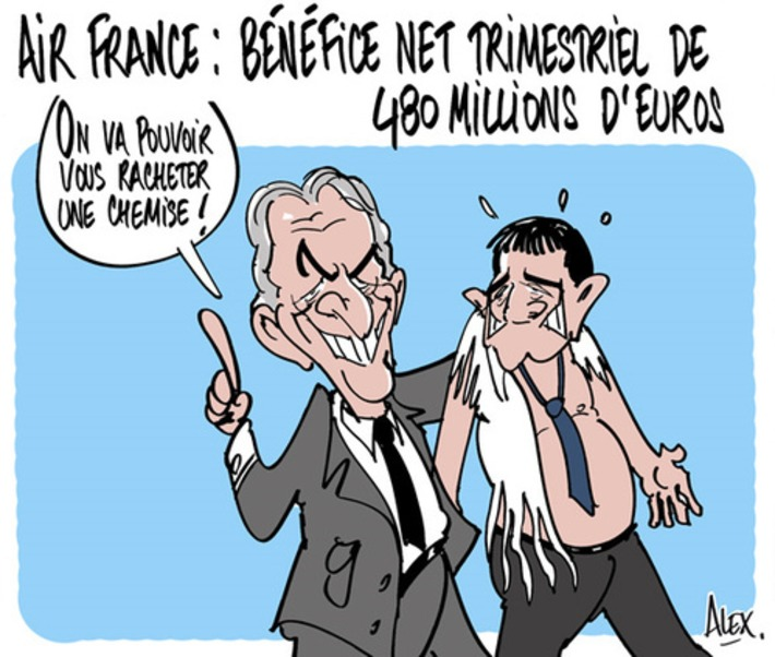 Air France : bénéfice net trimestriel de 480 millions d'euros | Baie d'humour | Scoop.it