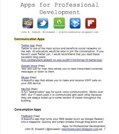 Teachers'  Professional Development Apps | Educational Technology - Yeshiva Edition | Scoop.it