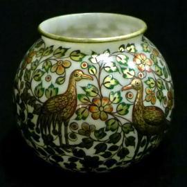 Beautiful Gold Birds Pot, Silver Waves Pot | Buy Online Marble Handicrafts - Tulika Handicrafts | Scoop.it