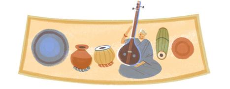 Google doodle celebrates M.S.Subbulakshmi's birthday | RtoZ.org - Latest News | doodles 2013 | Scoop.it