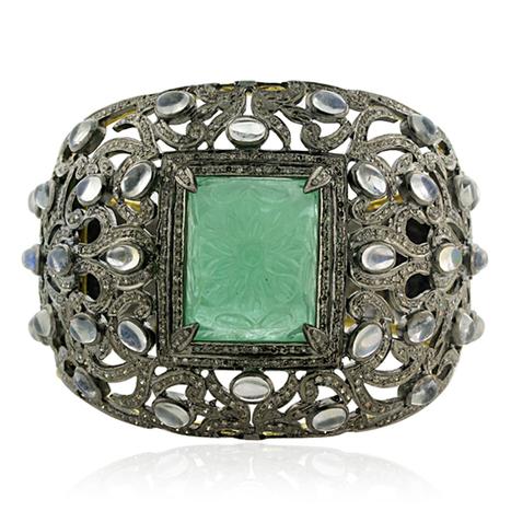 Rainbow Moonstone Victorian Bangle | Wholesale Jewelry | GemcoDesigns | Pave Diamond Bangle | Diamond Jewelry | GemcoDesigns | Scoop.it