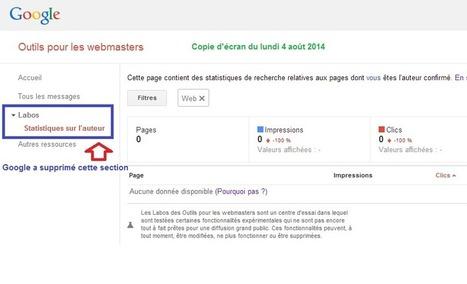 Google a supprimé les statistiques de l'Authorship dans les Webmaster Tools - #Arobasenet | SEO | Scoop.it