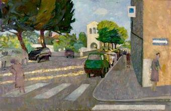 """Via delle Stelle, Ascoli Piceno"" Oil on Linen by Brian Chu 