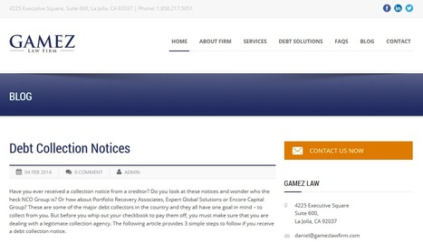 Debt Collection Notices | Gamez Law Firm | Gamez Law Firm | Scoop.it