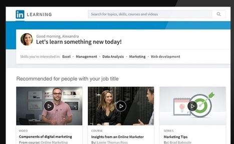 LinkedIn se lance dans l'éducation avec des cours en ligne | Ecole numérique | Scoop.it