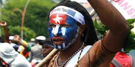Papua flag over Otara - waateanews.com   PAPUA MERDEKA ATAS DASAR KEADILAN   Scoop.it