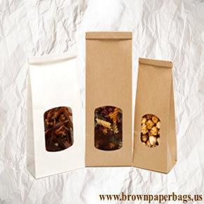 White and Brown paper bags window | Kraft Brown paper bags | Scoop.it
