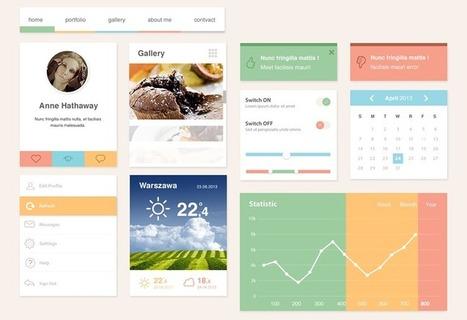 Freebie: The Ero Widget UI Kit | Design | Scoop.it