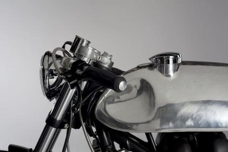 Hinckley Bonneville Cafe Racer by Sparks | vintage motos | Scoop.it