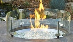 Round Fire Pit Glass Guard | garden plants and ponds | Scoop.it