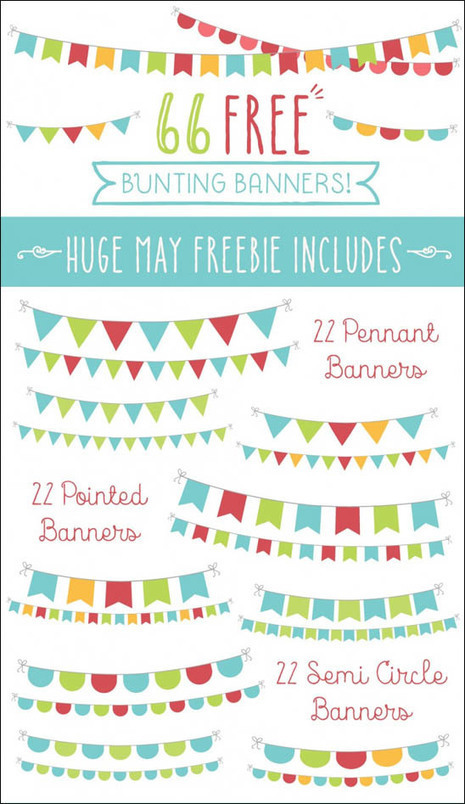 66+ Bunting free party banners | Bazaar | Scoop.it