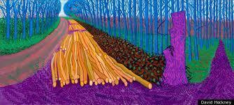 Les arbres sont violets comme la campagne | David Hockney RA, Royal Academy, London | Yorkshire Wolds Way | Scoop.it