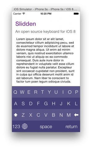 iOS Library For Easily Creating Fully Customizable Keyboards For Use As iOS 8 Keyboard Extensions | iPhone And PHP Dev | Scoop.it