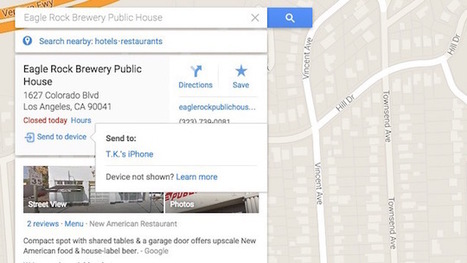 How to to Send Google Map Directions from Desktop to Your iPhone | Digital Media | Scoop.it