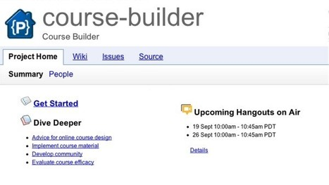Google releases Course Builder, takes online learning down an ... | Google And Your SMB | Scoop.it