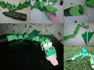 Réaliser un petit dragon pour les enfants avec le #gluepen #DIY #collage | Best of coin des bricoleurs | Scoop.it