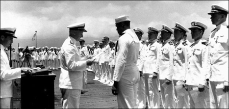 Primary Source 1: Above and beyond the call of duty--Dorie Miller received the Navy Cross at Pearl Harbor, May 27, 1942 / David Stone Martin. | African Americans in the Military in WWII | Scoop.it