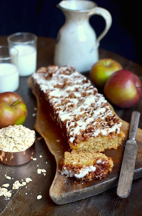 Yammie's Noshery: Oatmeal Apple Coffee Cake with Crunchy Cinnamon Streusel {Without Any Flour!}   Happy Nibbler   Scoop.it