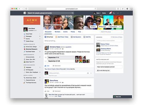#Facebook at Work : vers une sortie officielle fin 2015 | Social media | Scoop.it