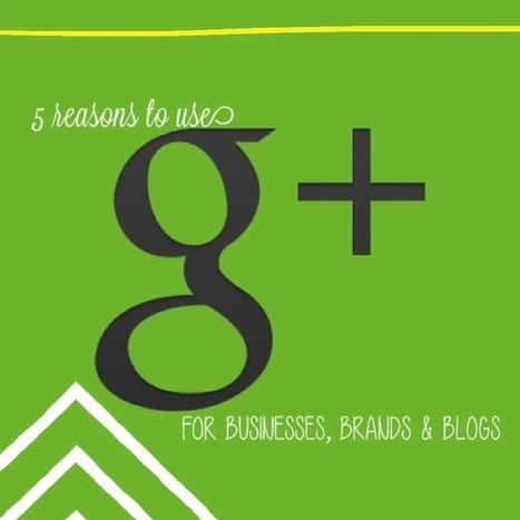 5 reasons to use Google plus for business, brands and blogs -   ce n'est pas demain la veille   Scoop.it