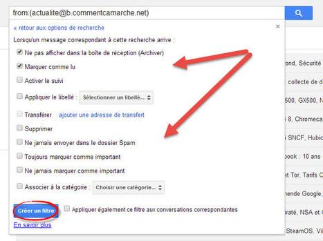 Comment créer un filtre sur Gmail   Au fil du Web   Scoop.it