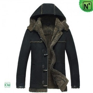Mens Hooded Shearling Sheepskin Jackets CW877138 | Fur Trimmed Coats | Scoop.it