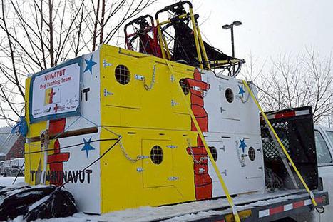 Team Nunavut's colourful mushers' dog boxes in Fairbanks, Alaska | Inuit Nunangat Stories | Scoop.it