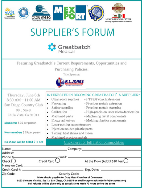 MEXPORT Supplier's Forum Series: Featuring Greatbatch Medical | San Diego Center for International Trade Development (CITD) | Global Trade and Logistics | Scoop.it