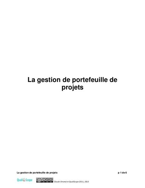 Introduction à la GPP - Gestion de portefeuille de projets | Prospérer à l'Ère de Projets | Scoop.it