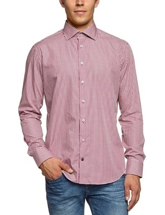 (1)   Tommy Hilfiger Tailored Herren Businesshemd Jake Fit SHTCHK13207, Gr. 42 (L), Rot (047)   Hemden Bekleidung   Scoop.it