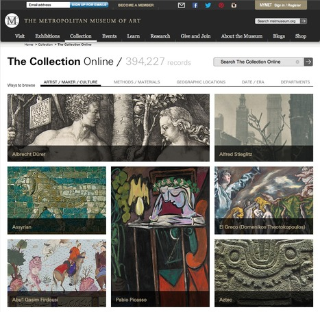 Metropolitan Museum Initiative Provides Free Access to 400'000 Digital Images | sweet | Scoop.it