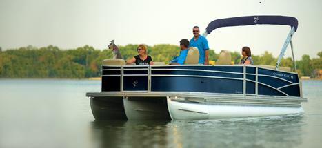 Cayman LE 230   Luxury Pontoon Boat Manufacturers and Dealers   Personal Pontoon Boats : 2013   Pontoon Boats   Scoop.it