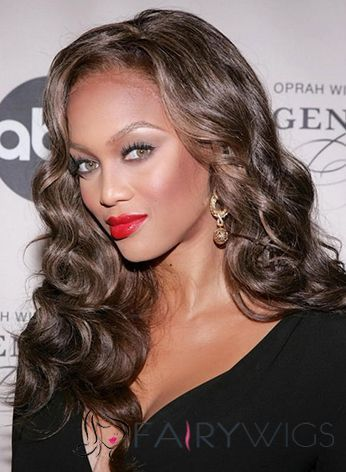 Best Long Wavy Brown African American Lace Front Wigs for Women : fairywigs.com | African American Wigs | Scoop.it