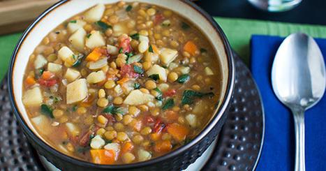 Lentil Vegetable Soup   My Vegan recipes   Scoop.it
