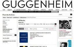 Catalogues du Guggenhein consultable gratuitement sur Internet - Biblioworld | Outils et  innovations pour mieux trouver, gérer et diffuser l'information | Scoop.it