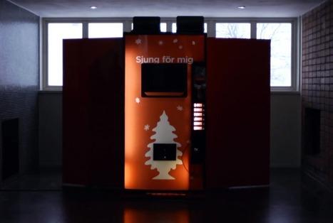 Coca-Cola installe un distributeur qui vous fait chanter des chansons de Noël  |  Wonderful Brands | Tumblr, geekeries et autres conneries ! | Scoop.it