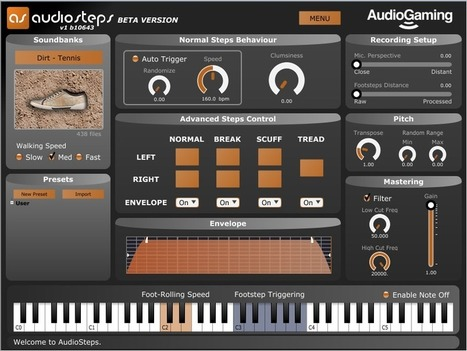 Keyboardmag: Release of the post-production plug-in: AudioSteps | Revue de presse AudioGaming by Comm'IN | Scoop.it