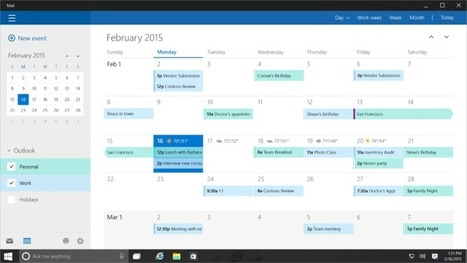 A close look at the Contacts and Calendar app in Windows 10 Mobile   Mobel Media   Alwasat_tech   Scoop.it
