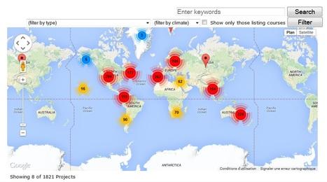 Carte mondiale des projets en Permaculture   Les cartes des Alternatives - Géographie de la transition   Scoop.it